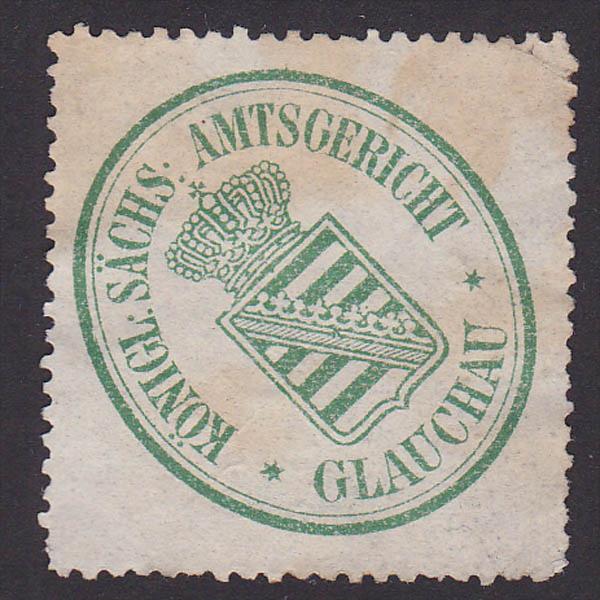GLAUCHAU Siegelmarke Königlich Sächsische Amtsgericht