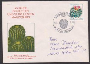 kakteen sukulenten oroya peruviane 35 Pf. DDR-Sondermarke 2808 auf Auslandsbrief