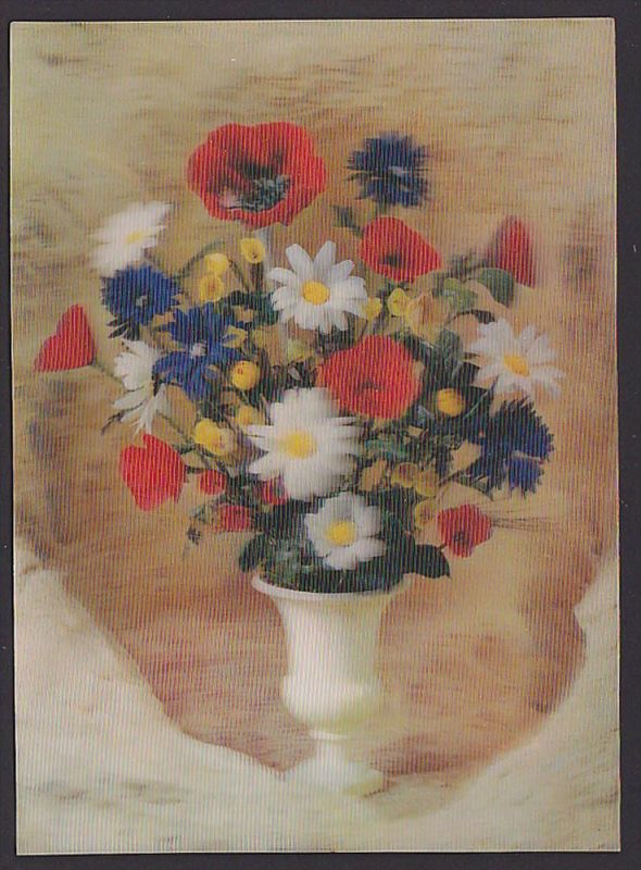 3D-Color Karte Toppan top Stereo Nr. 252 Contry flowers