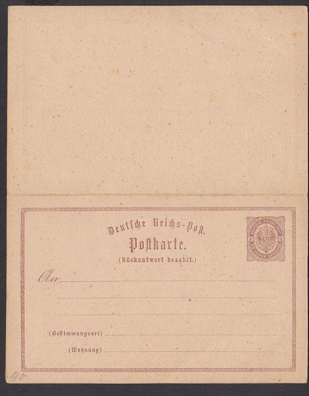 Doppelkarte P4 komplett ungebraucht Deutsches Reich Ganzsache, Germany