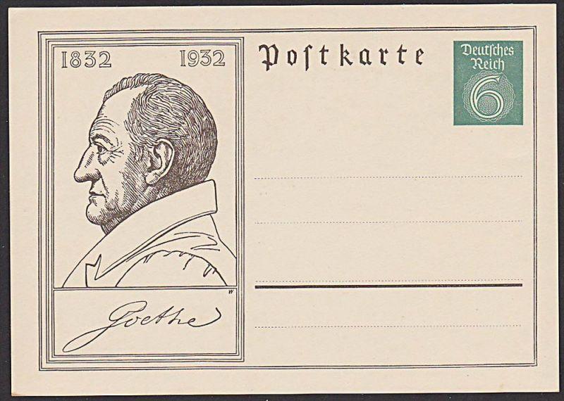 Johann Wolfgang von Goethe 1832 - 1932, Dichter, Poet, Ganzsachenkarte *