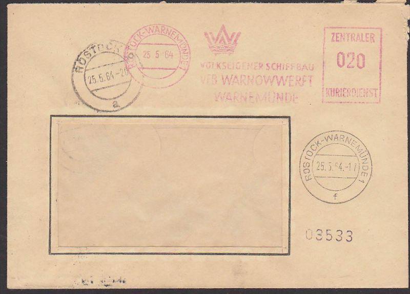 Rostock-Warnemünde Volkseigener Schiffbau VERB Warnowwerft 1964 ZKD-AFS =020=