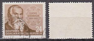 Lucas Cranach d. Ältere zum 400. Todestag Germany DDR 384 used