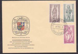 Bistum Otto von Bamberg, Hl. Petrus Apostel, Berlin-West 132/4 FDC, SoSt. Berlin Charlottenburg 25 Jahre Bistum Berlin