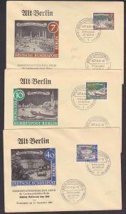 Schloss Bellevue, Waisenbrücke Berlin-West 3 FDC aus der Serie