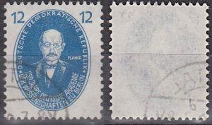 Max Planck 12 Pf. gestempelt in der besseren Farbe DDR 266b, Akademie der Wissenschaften