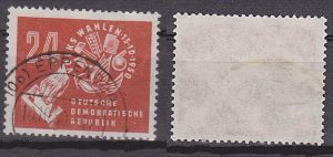 Germany EAST 24 Pf Volkswahlen 1950 DDR 275 used, Wahlurne Maurerkelle Hammer Ähre
