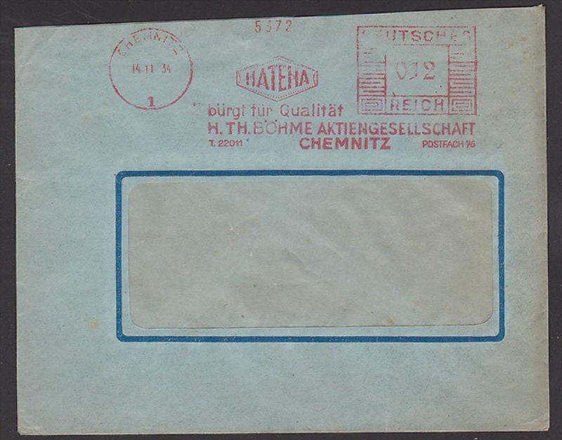 Germany Deutsches Reich AFS Chemnitz HATENA 1934 H. TH. BÖHME Aktiengesellschaft, AFS