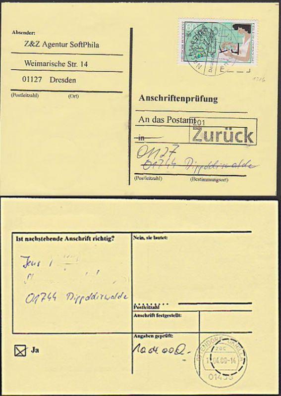 dentist dentiste Dental Zahntechniker Dippoldiswalde Ottendorf-Okrilla BRD 1316 Anschriften-Prüfung  Germany