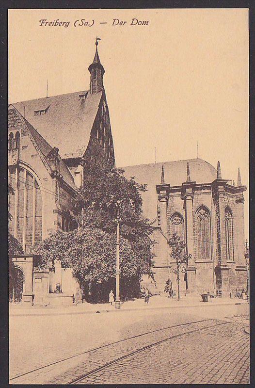 Ak Freiberg Sachsen Der Dom 1920 sw, druckfrische Erhaltung