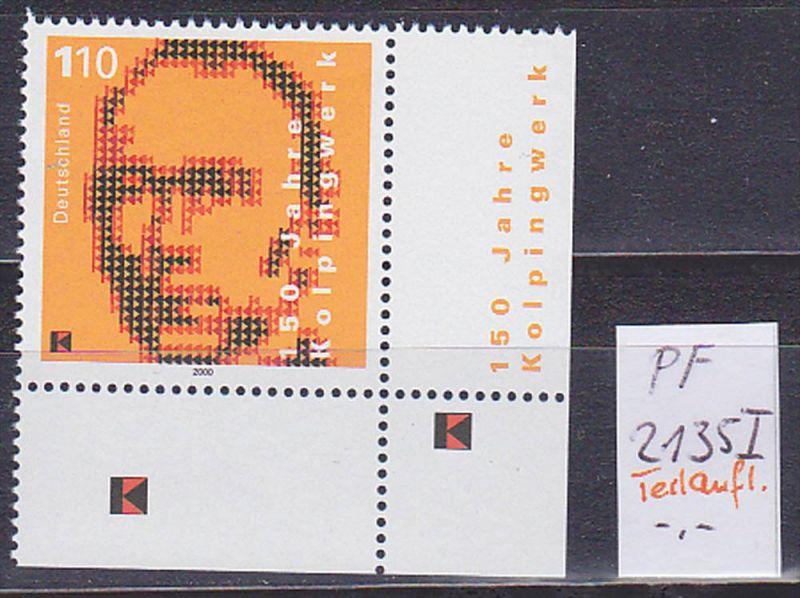 Germany 1,10 DM Kolping Plattenfehler 2135I, postfrisch unused, 150 Jahre Kolpingwerk ohne Bewertung -,-