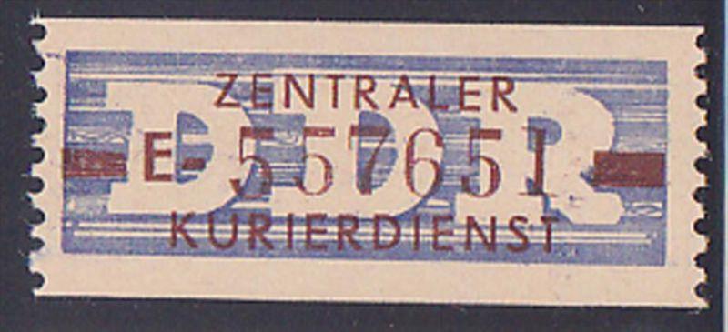 DDR -ZKD 10 Pf Wertstreifen B20E Nachdruck postfrisch Nr. 557651, jede Marke mit der Nr. ein Unikat