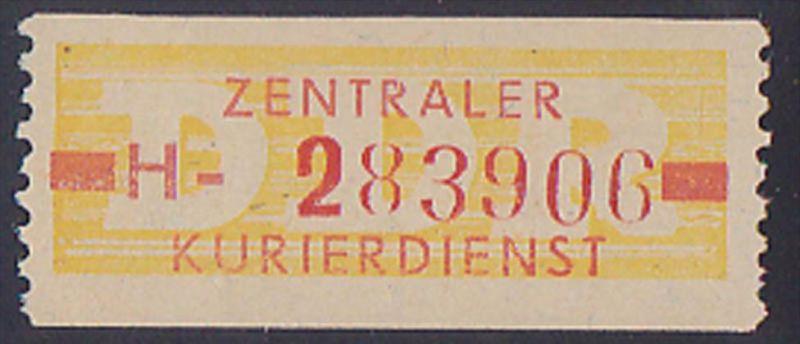 DDR -ZKD 10 Pf Wertstreifen B18IH Nachdruck postfrisch Nr. 283906, jede Marke mit der Nr. ein Unikat