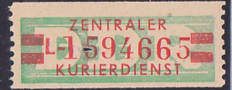 DDR -ZKD 20 Pf Wertstreifen B31IIL Original postfrisch Nr. 1594665, jede Marke mit der Nr. ein Unikat