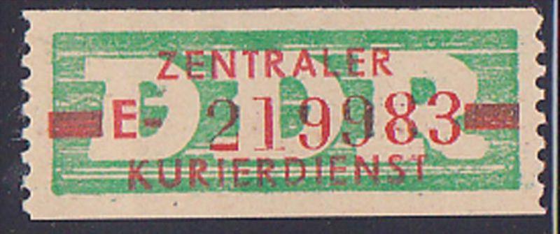DDR -ZKD 10 Pf Wertstreifen B30IIE Original postfrisch Nr. 219983, jede Marke mit der Nr. ein Unikat
