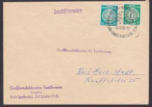 Berlin-Köpenick SoSt. auf Dienstpostbrief 28.8.58, Abb. spielende Kinder Pionierpark Ernst Thälmann Wuhlheide