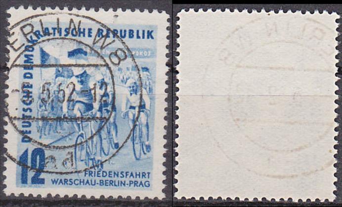 bike Friedensfahrt Warschau-Berlin Prag 1952, Radrennen DDR 307 gestempelt bicicle