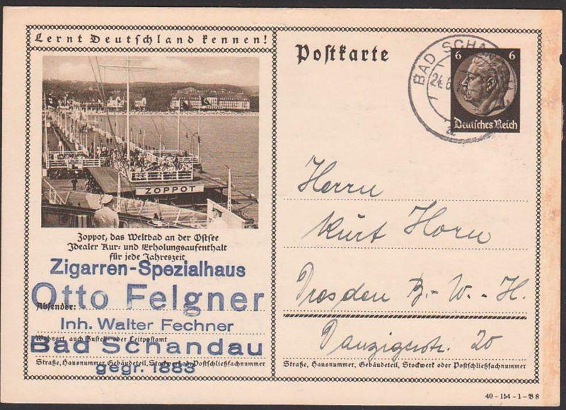 Bildpostkarte P236 40-154-1-B8 Zoppot Ostsee