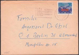 Varna 1973 Welgewerkschaftskongress, 35 Pf DDR 1885, MWSt.