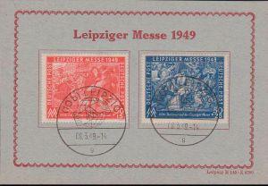 Gedenkblatt Karton, Leipziger Messe Frühjahrsmesse MM 1949, SoSt., Dv. M 145 - Z 4780, Italiener auf der Messe