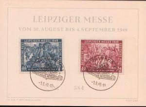 Gedenkblatt Leipziger Messe Herbstmesse MM 1949, SoSt., Dv. M 307 - Z925, junge Goethe auf der Messe
