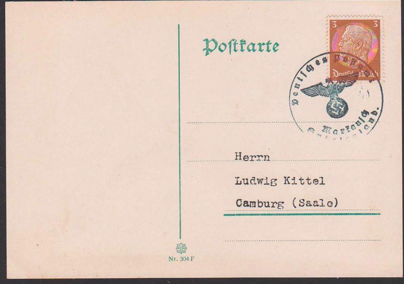 Markausch Sudetenland, Deutsches Postamt Siegelstempel mit Adler,  Markovšovice Sudeten,