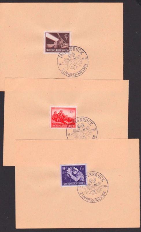 DR 876, 877, 878 SSt. Innsbruck 7. Landesschiessen 17.7.1944 U-Boot Kommandant,