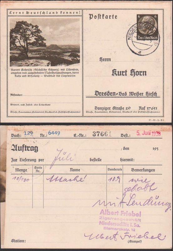 Deutsches Reich C-Ganzsache Kurort Gohrisch (Sächsische Schweiz)
