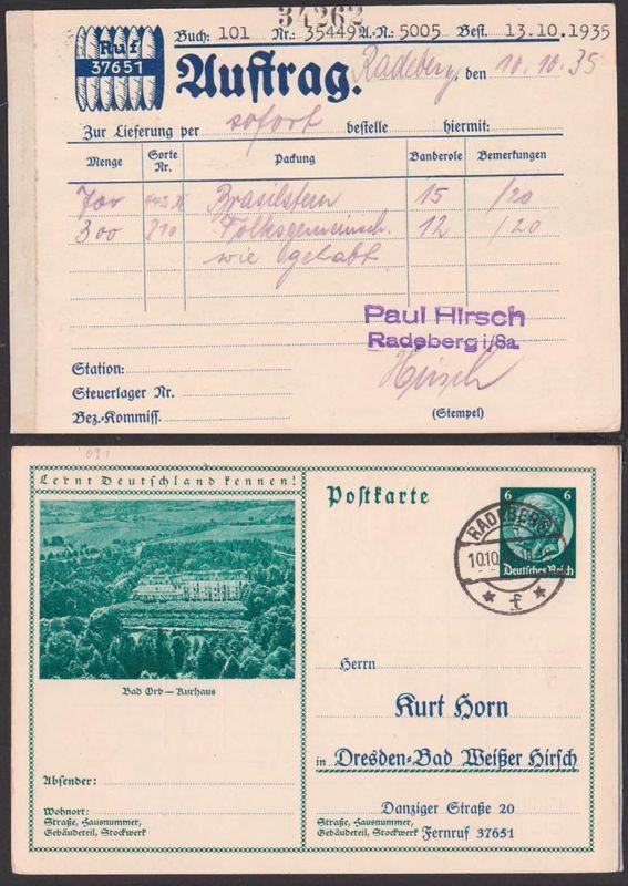 Deutsches Reich C-GanzsacheBad Orb Kurhaus