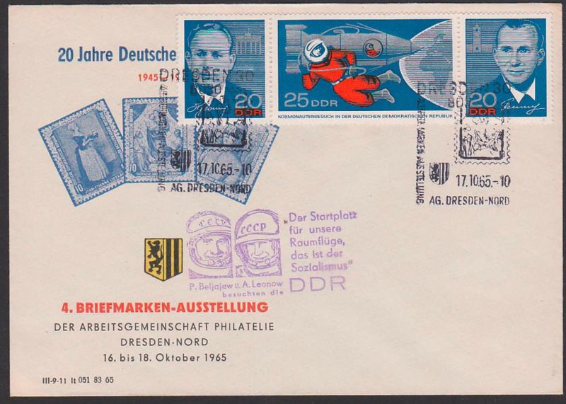 Beljajew A. Leonow besuchen die DDR
