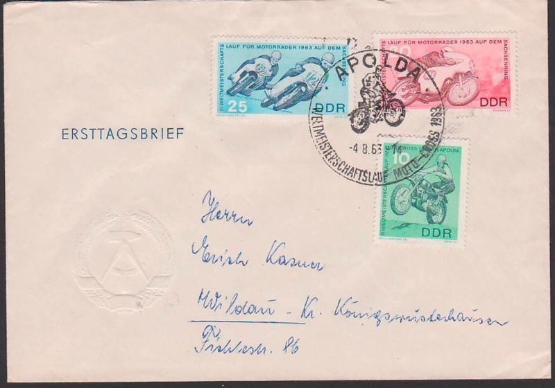 Moto-Cross SoSt. Apolda Weltmeisterschaftslauf 1963 auf dem Sachsenring