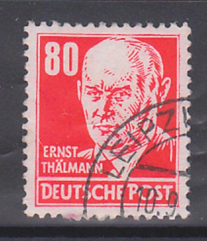 Ernst Thälmann 80 Pf rot DDR 340 (17,-) Germany, gestempelt Arbeiterklasse, Politiker