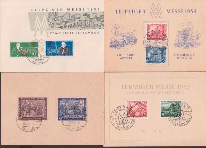Messe Leipzig Schmuckblätter SoSt. Karl-Marx-PlatzPetershof Technische Messe, MM zs. 1948 und 1958