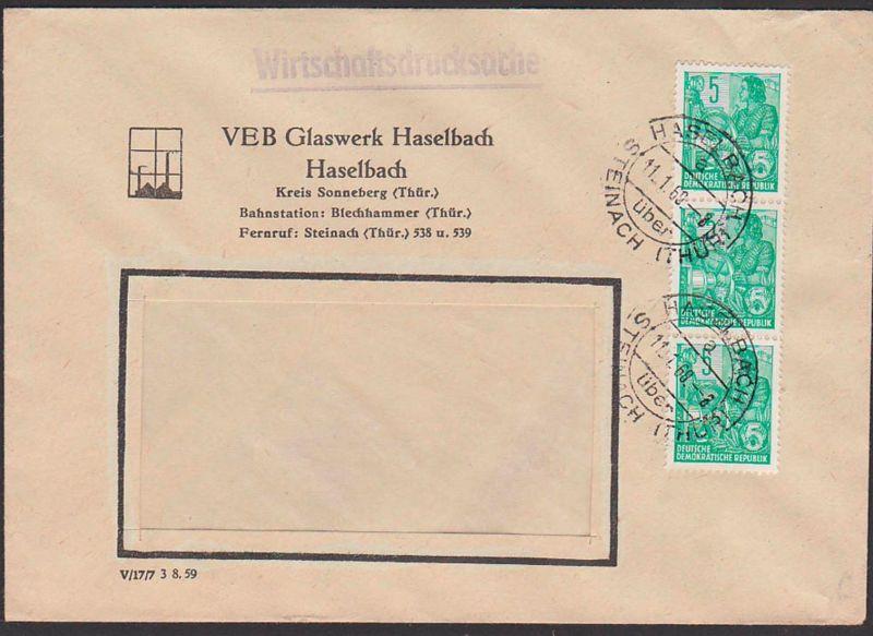 Haselbach über Steinach Wirtschafts-Drucksache Glaswerk, 5 Pf 5-Jahrplan (3) 11.1.69