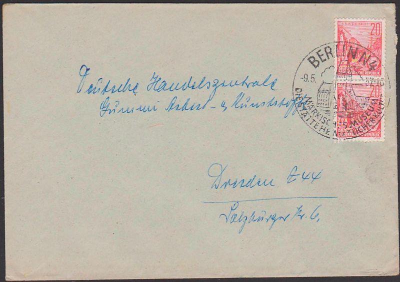 BERLIN N4 9.5.57 SoSt. Märkisches Museum die Stätte heimatlicher Kultur, Abb. Denkmal und Gebäude