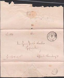 MAGDEBURG 1862 Altbief Herrschaftlich Christliche Sache  nach Lissen bei Naumburg an Probst