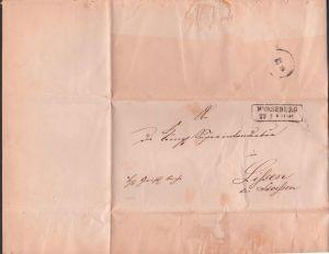 MERSEBURG 1861 Altbief Herrschaftlich Christliche Sache nach Lissen bei Stößen an königl. Superintendatur