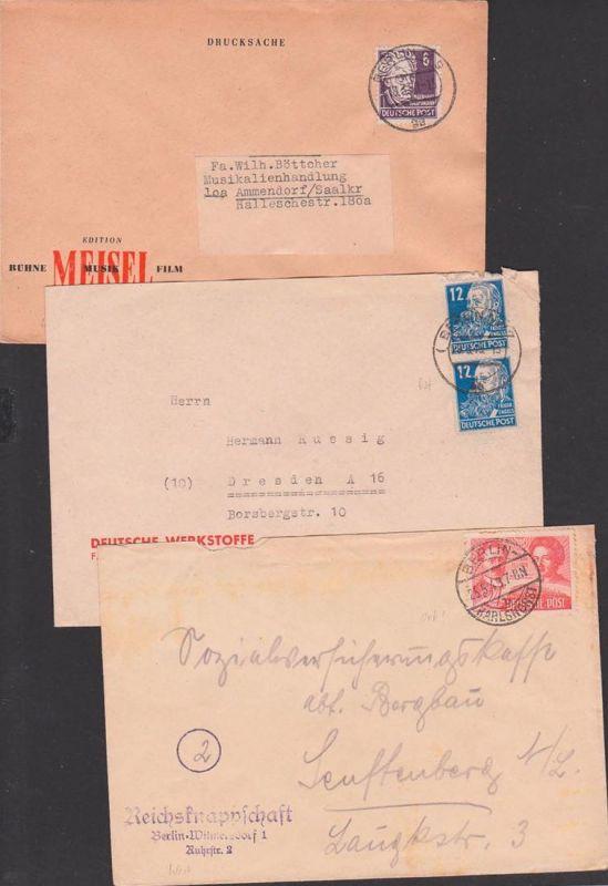 SBZ Absender West- Aufgabe Ost-Berlin, Wilmersdorf -Karlshorst, W35 - NW7, Wilmersdorf, Rosa Luxemberug, K. Liebknecht