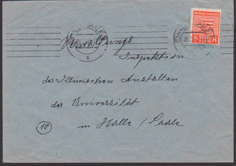 Provinz Sachsen, SBZ 77 8 Pfg. Ortsbrief aus Halle Saale