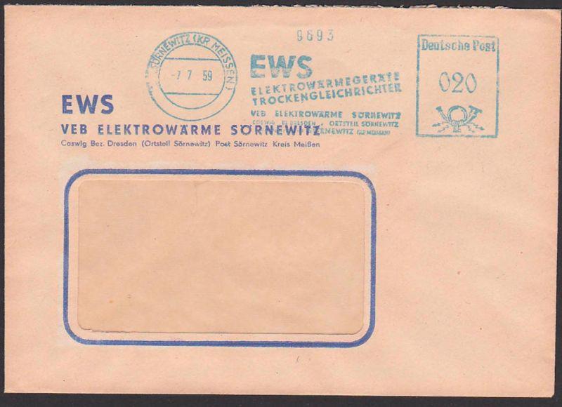 Sörnewitz (Kr. Meissen) Germany DDR AFS 7.7.57