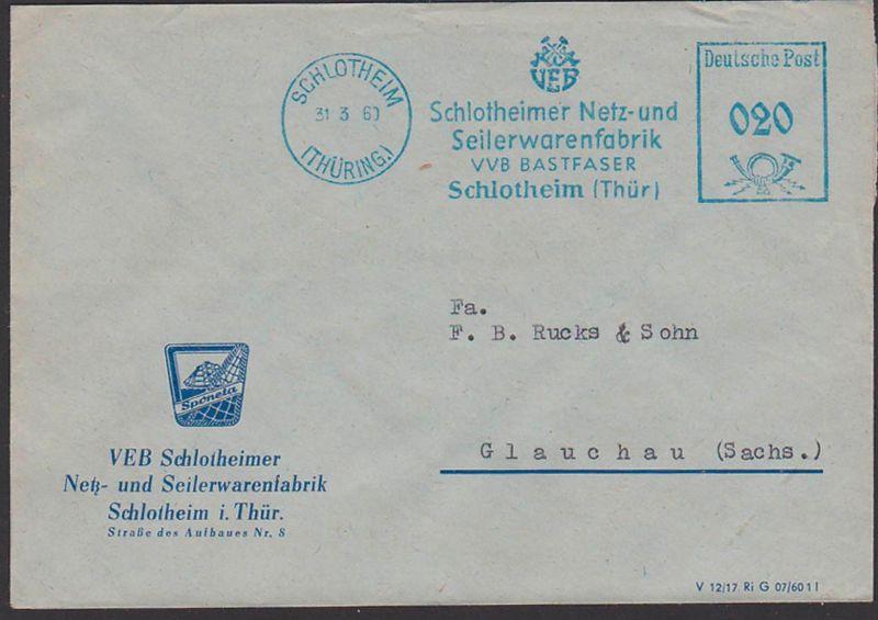 Schlotheim Germany DDR AFS 31.3.60