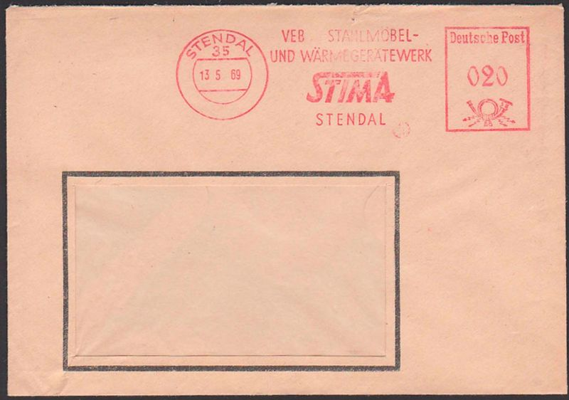 Germany STENDAL DDR AFS 13.5.69