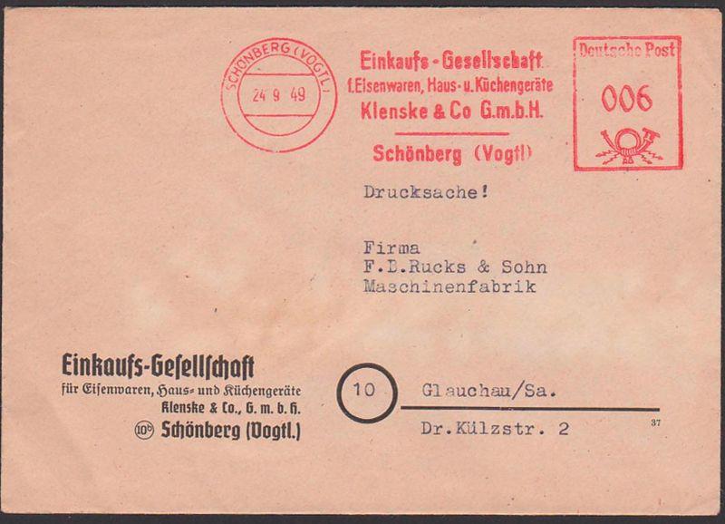 SCHÖNBERG (VOGTL) DDR AFS 24.9.49