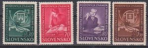 Slovensko Pressburg  Philatelie, Celostatna Vystava postovych znamok v Bratislava 1942 postfrisch, Slowakei, 98/101