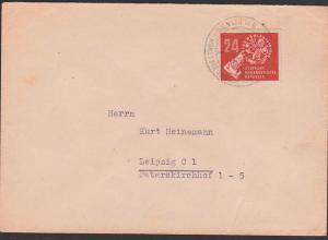 Germany DDR 275, 24 Pfg. Volkswahlen 1950 Friedenstaube Hand mit Wahlzettel und Urne, SoSt. Berlin W8 portogenau