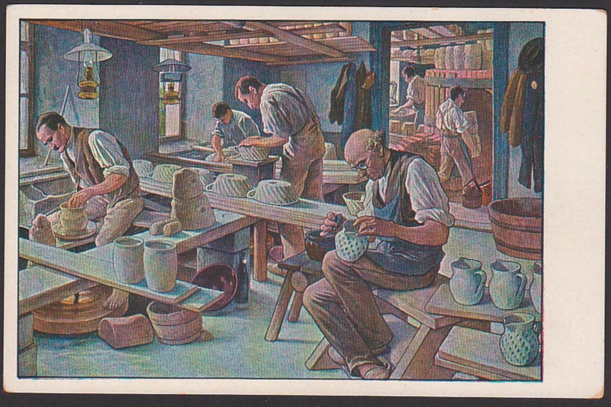 Töpfer Keramik Handwerk, Meinholds Schul-Wandbilder  color-card