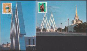 Leipzig Messe MM 1984 Maxkarten, SoSt. BERLIN Wiegen des Messegutes DDR 2029/30