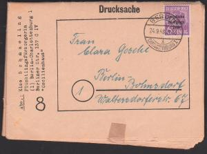 Berlin-Charlottenburg 1 24.9.48, 6 Pfg. SBZ-Aufdruck Vorläufer auf Drucksache, Flüchtlingsfürsorgerin, 4 Seiten gesamt