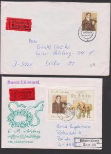 Carl Maria von Weber DDR Block und Marke aus Bl. 86 je als Auslandspost portogenau, Der Freischütz Dresden Semperoper
