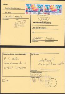 Segeln Auslands-Rücksende-Adresse Bund 1310(2) nicht zugelassen, Anschriftenprüfung Weltmeisterschaft 1.2.2000